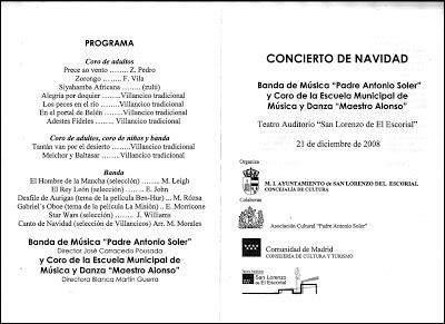 CONCIERTO DE NAVIDAD EN EL AUDITORIO DE SAN LORENZO