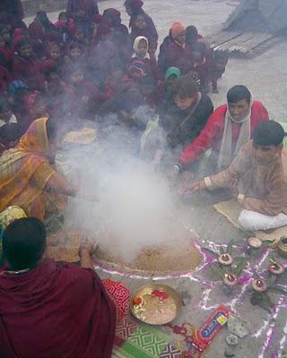 Puja de Saraswati